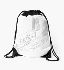 axonometric vision Drawstring Bag