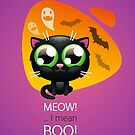 Halloween Greeting Card with Cat by Voysla