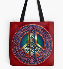 Celtic Knot of Peace - metallic version Tote Bag
