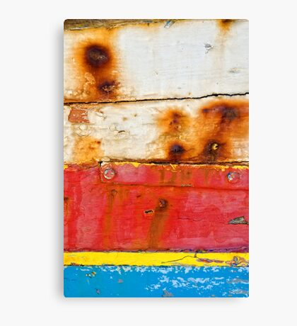 A boat's dacaying wood I Canvas Print