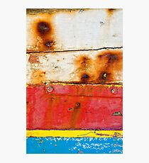 A boat's dacaying wood I Photographic Print
