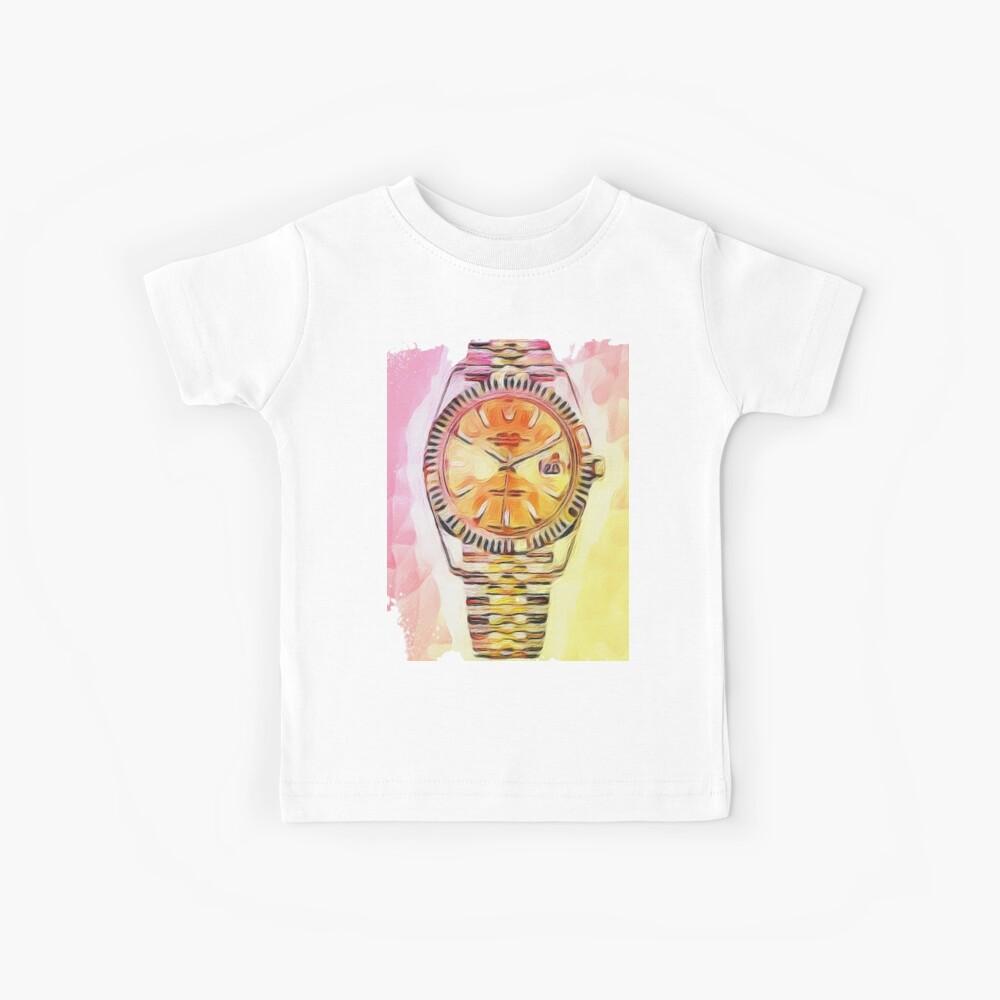 Uhrzeit Rolex Kinder T-Shirt