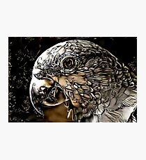 Mechanical Parrot Oil Painting Photographic Print