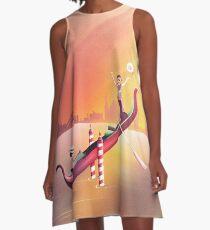 Venedig Schaukel A-Linien Kleid