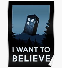 I want to believe - dreams of time travel, Tardis Poster