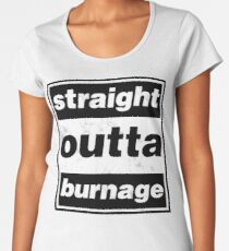 Straight Outta Burnage, Our Kid Premium Scoop T-Shirt