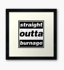 Straight Outta Burnage, Our Kid Framed Print