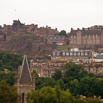 Edinburgh Castle Scotland in the Distance by ValeriesGallery