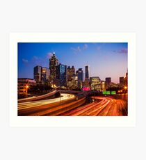 Atlanta Skyline at Night Art Print