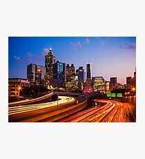 Atlanta Skyline at Night Photographic Print