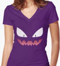 Camiseta entallada de cuello en V Pokemon - Haunter / Fantasma