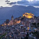 Evening in Caccamo, Sicily by Xandru