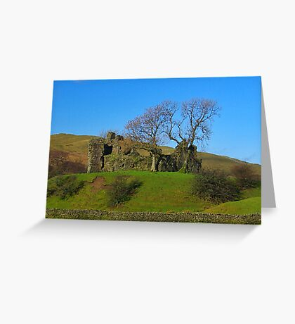 Pendragon Castle Ruins Greeting Card
