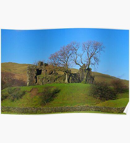 Pendragon Castle Ruins Poster