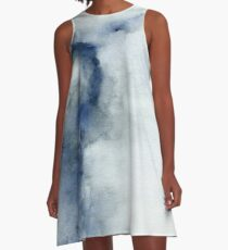 Ice Cracking | Original Watercolor Painting A-Line Dress