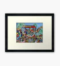 """Farmers Market"" Framed Print"