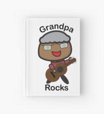 Black Grandpa Rocks Guitar Hardcover Journal