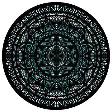 Teal Mandala by bobblehead1337