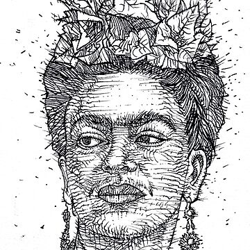 FRIDA KAHLO - ink portrait by lautir