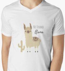 No Drama Llama - Funny Cute Animal Design Men's V-Neck T-Shirt