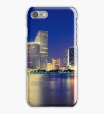 Miami Skyline at Night iPhone Case/Skin