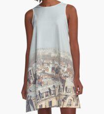 Paris Morning Rooftops A-Line Dress