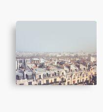 Paris Morgen Dächer Leinwanddruck