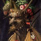Four Seasons In One Head - Giuseppe Arcimboldo by maryedenoa
