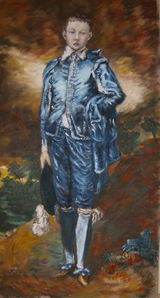 Blue boy [after Gainsborough] by Barry Burke