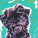 «Divertido Affenpinscher Perro brillante colorido Pop Art» de bentnotbroken11