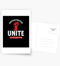 Procrastinators Unite Tomorrow Postcards