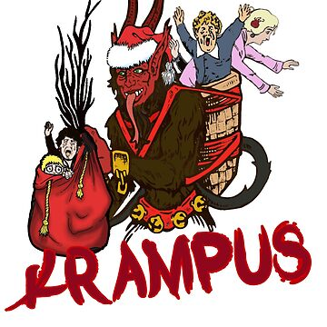 Krampus Catches the Naughy Ones by gallerytees