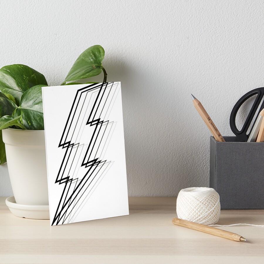 Lightning Bolt Art Board Print