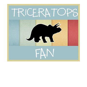 Triceratops fan   Dino fan   Dinosaur fan   by jcaladolopes
