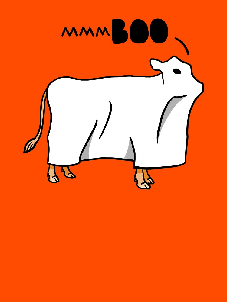 Scary Halloween Ghost Cow by DOODL