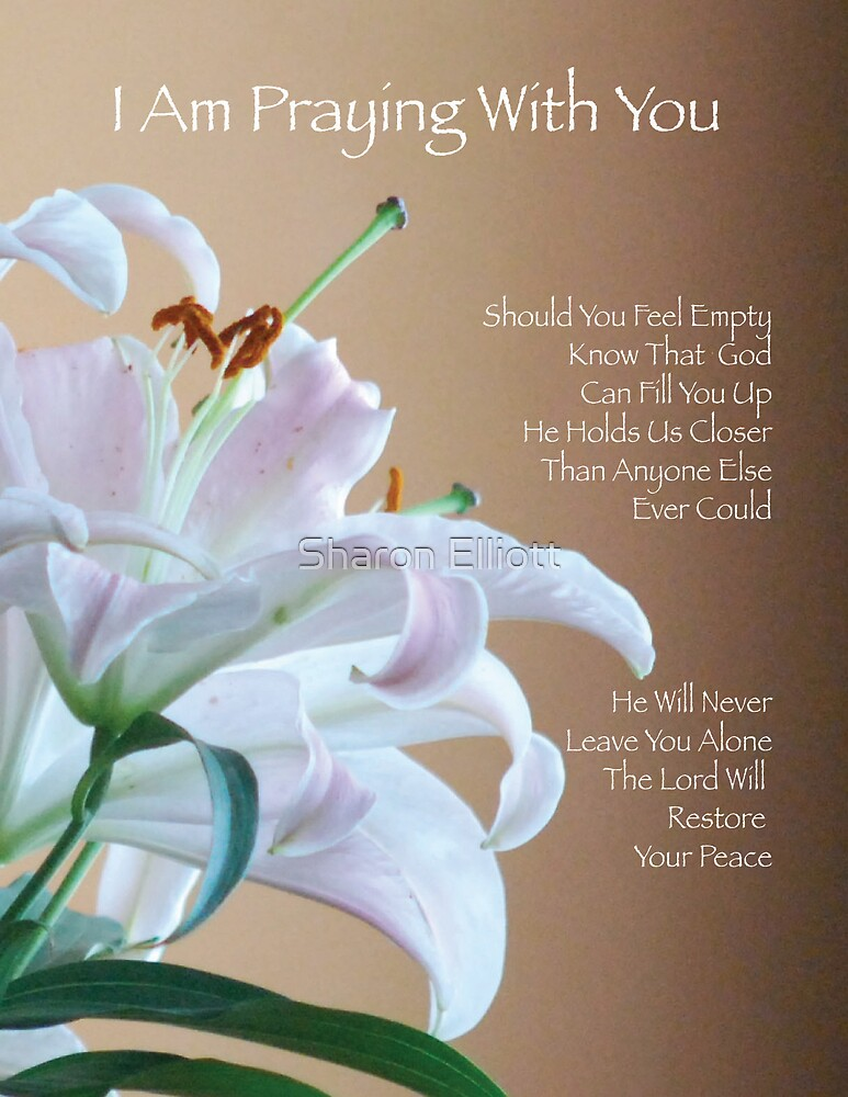 I Am Praying With You by Sharon Elliott