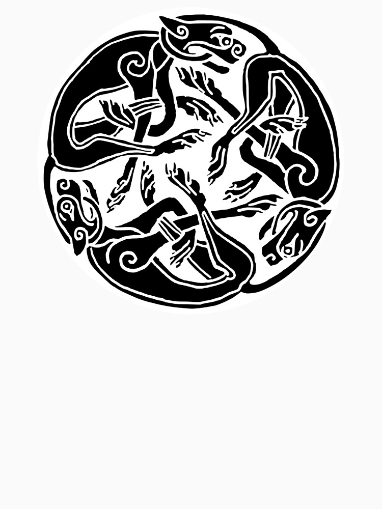 Dogs Celts Celtic Hounds Three Intertwined Dogs 3 Dogs Book Of