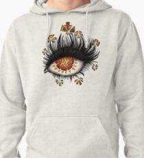 Weird Eye Of Fractured Lava | Digital Art Pullover Hoodie