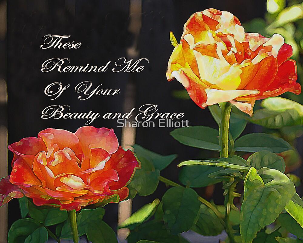 Rose Greeting Card by Sharon Elliott