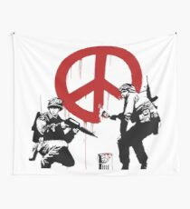 banksy no war Wall Tapestry