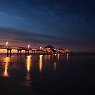 sunrise at the pier by kathy s gillentine