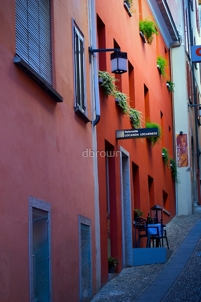 Restaurant within Small Sidewalk by dbrown