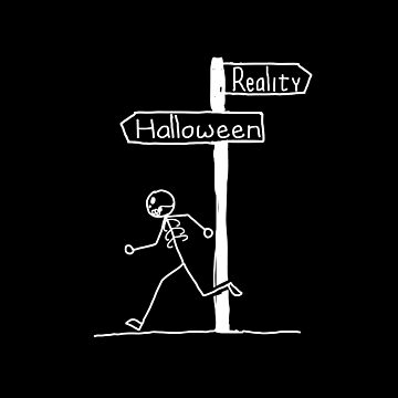 "Funny ""Reality vs Halloween"" Halloween Design by EireShirts"