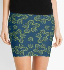 Pattern with Ginkgo biloba Mini Skirt