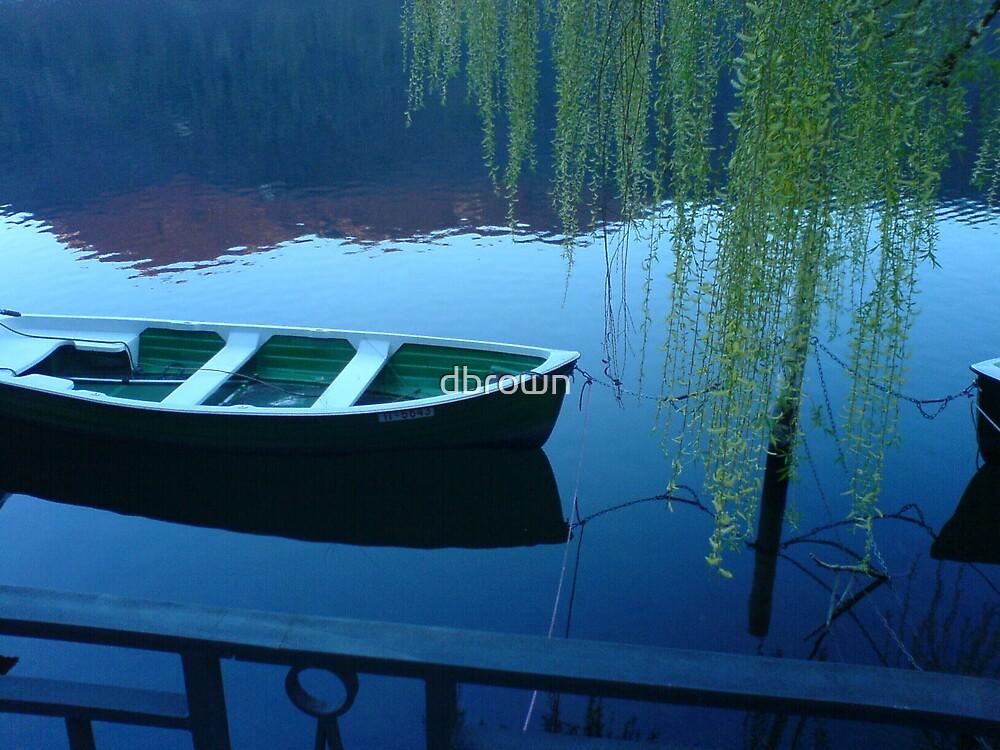 Boat in Still Water by dbrown