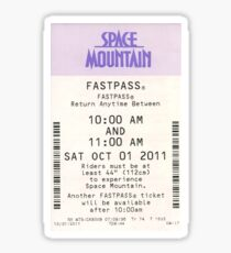 Space Mountain Fastpass Sticker