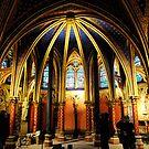 Lower Chapel in Sainte Chapelle by Tony Dempsey