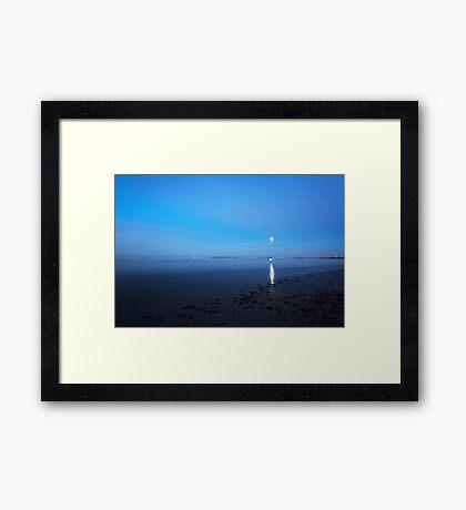 moonlite beach Framed Print