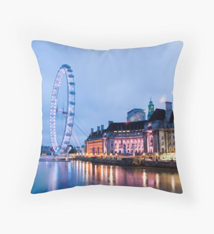 In The Twinkling of an Eye: London Eye Throw Pillow