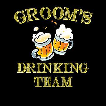 Grooms Drinking Team Shirt Bachelor Party by Teeshirtrepub
